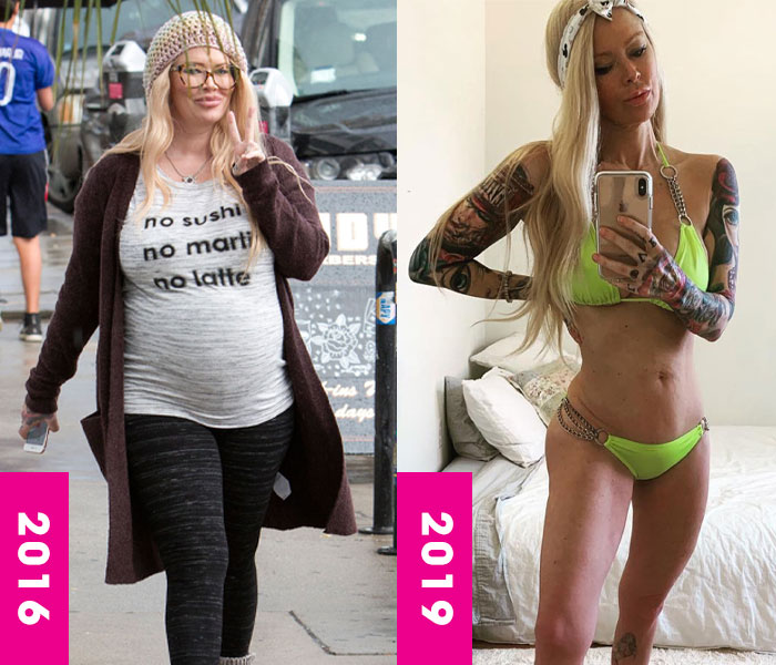 Jenna Jameson weight loss, surgery, keto, then and now, celebrity transformation, before and after, fat, thin, skinny