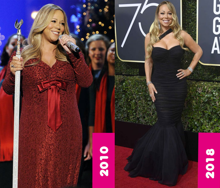 Mariah Carey Weight Loss Surgery, Gastric Bypass, Mariah Carey Fat, Before and After, Then and Now, 2018